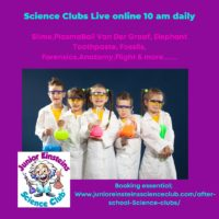 Junior Einsteins Science Club Live online science for kids