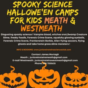 Halloween camps Meath Westmeath Spooky science