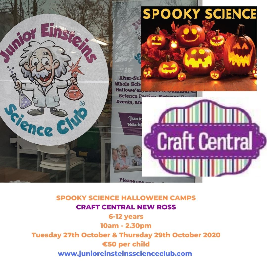 Halloween October 26th 2020 Events Spooky Science Halloween Camps Craft Central, New Ross October