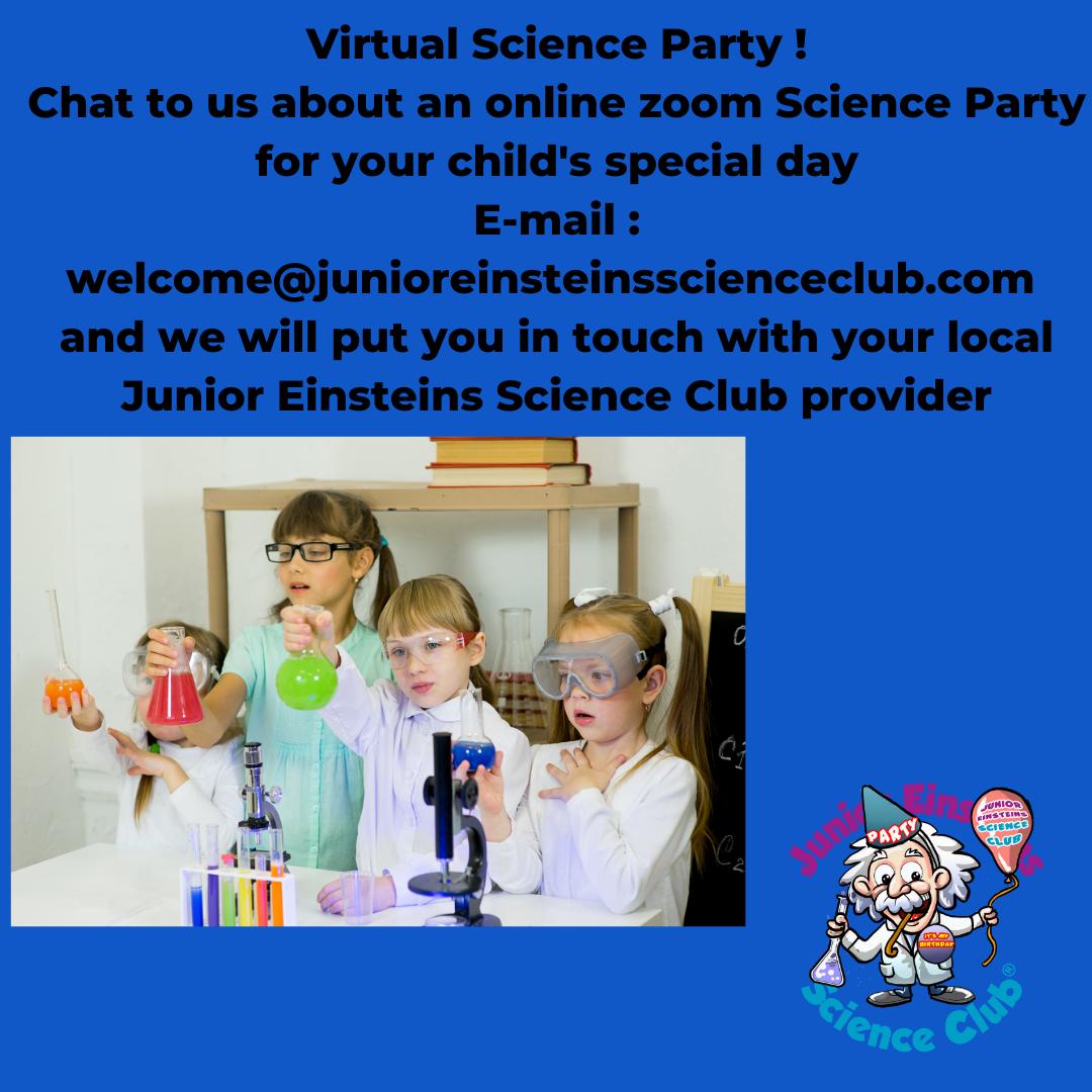 virtual science party Junior Einsteins