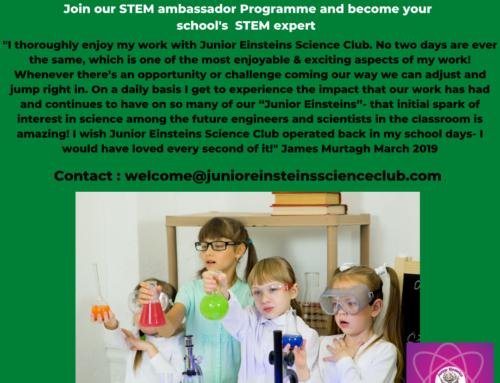 STEM ambassador for Primary School Teachers Ireland