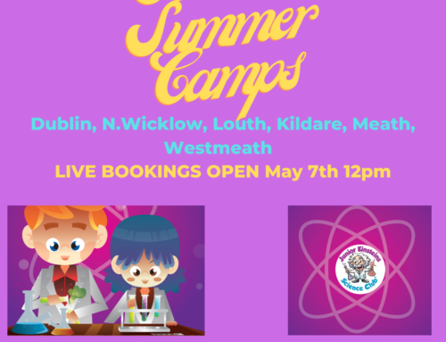 SCIENCE SUMMER CAMPS; LIVE for Bookings  on May 7th 12pm