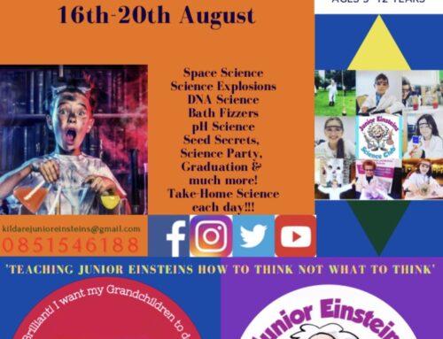 Outdoor Summer STEM fun at Naas Racecourse Junior Einsteins Science Summer Camp 16th-20th August
