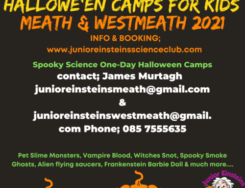 Spooky science Halloween camps for kids Meath & Westmeath October 2021