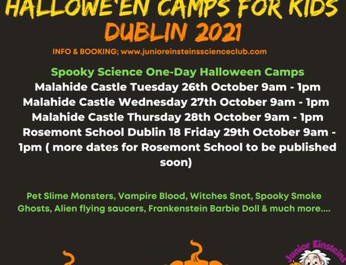 Hallowe'en Camps Dublin October 2021